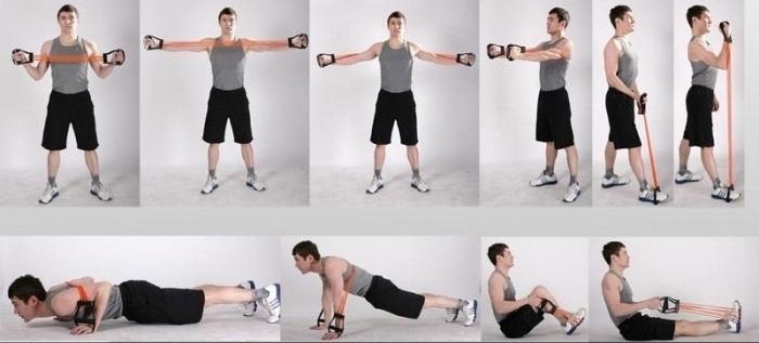 Упражнения для дома с эспандером для