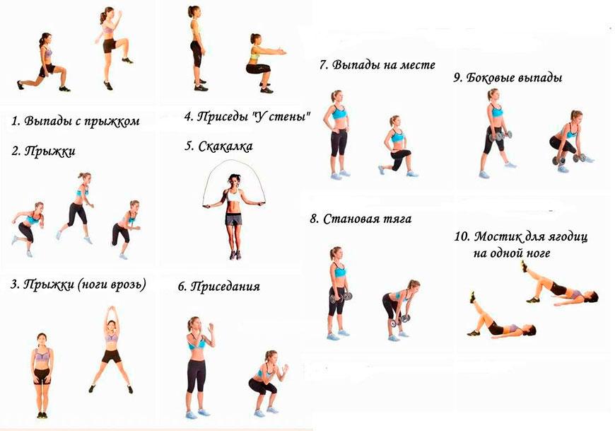 Домашняя тренировка для похудения ног