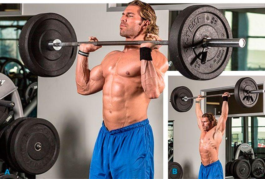 Подъем штанги на грудь польза и техника упражнения какие мышцы работают