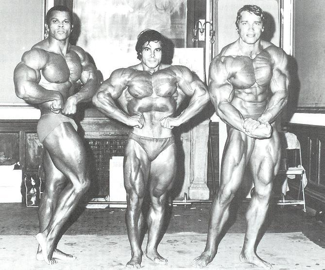 Серж Нюбре, Франко Коломбо и Арнольд Шварценеггер