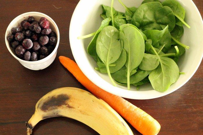 Вегетарианский со шпинатом и морковкой