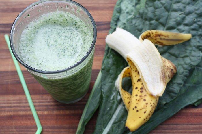 Бананово-капустный питательный коктейль