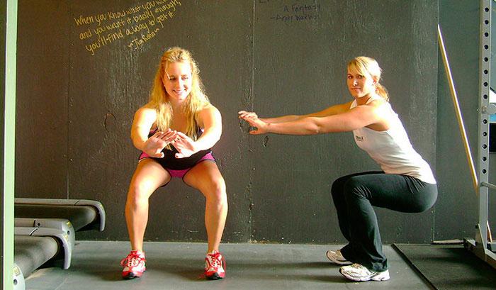 Приседания с собственным весом