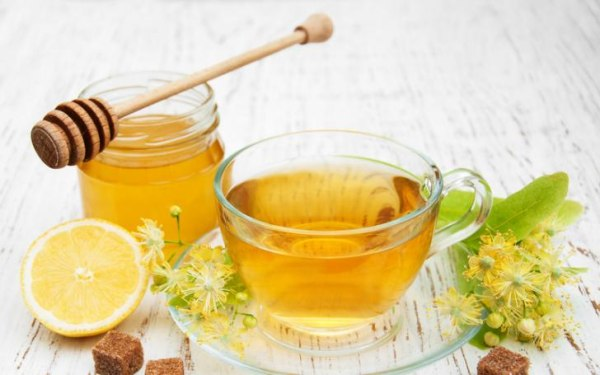 мед, чай и лимон