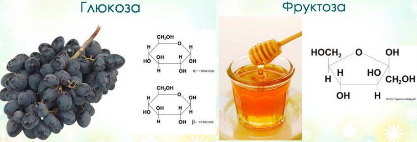Глюкоза и фруктоза