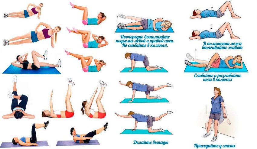 Упражнения обвисший живот