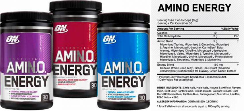 Состав Amino Energy