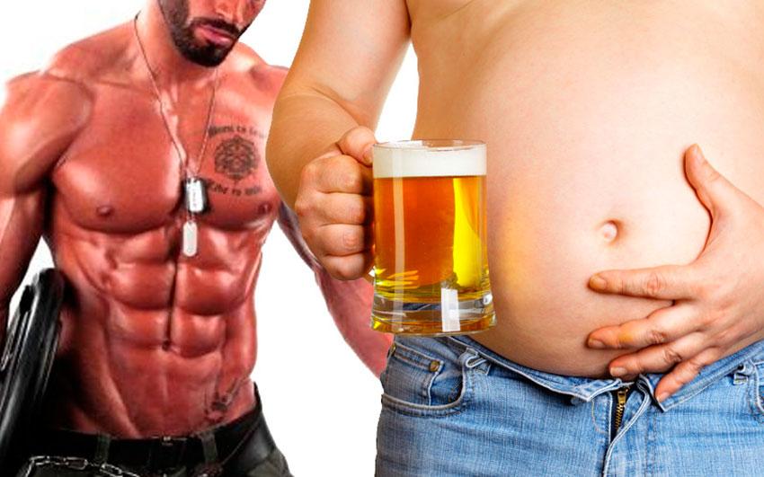 пивной диета живот