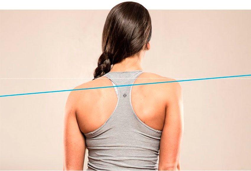 неровные плечи