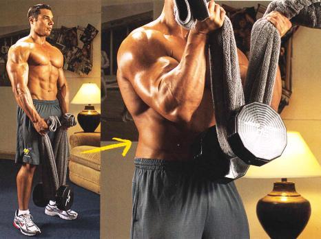 Чем накачать мышцы рук в домашних условиях