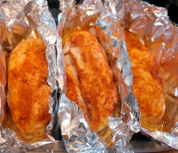 филе курицы рецепт в духовке в фольге