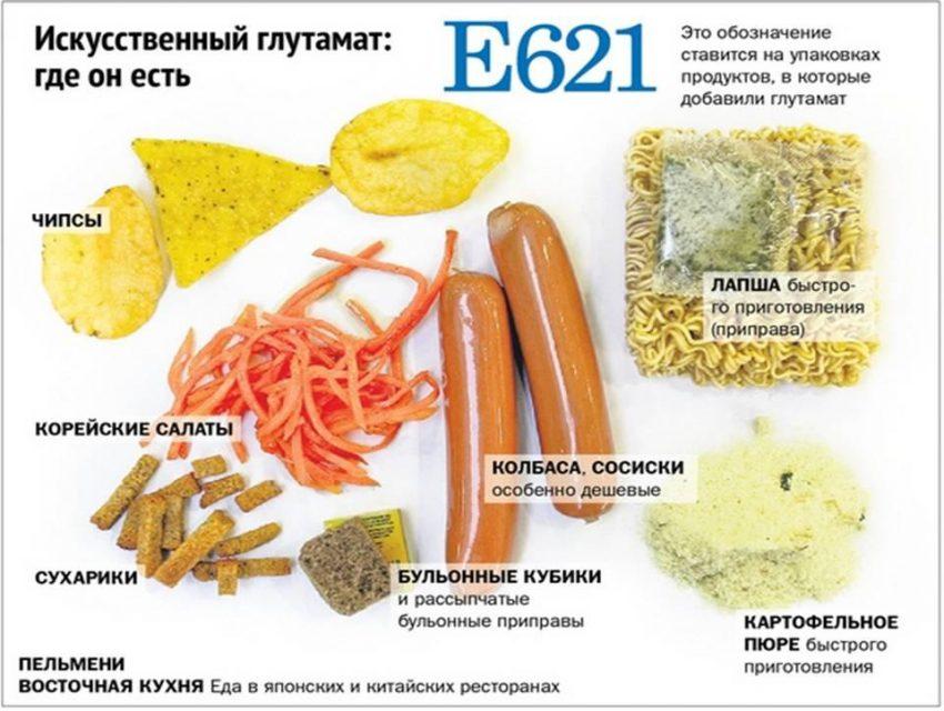 В продуктах