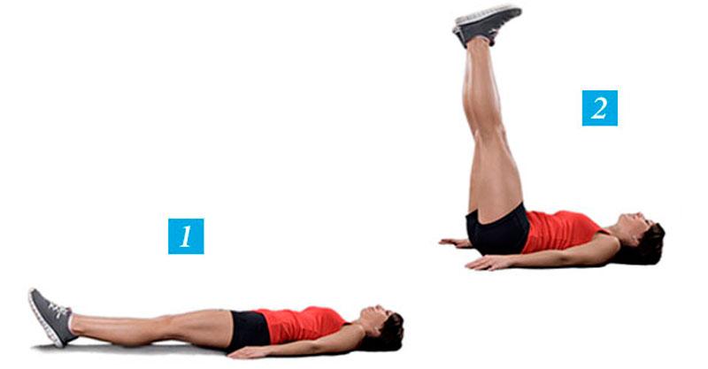Подъем ног из положения лежа