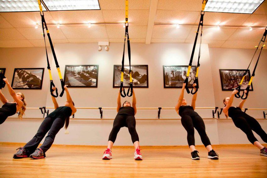 Тренировка спины с петлями TRX